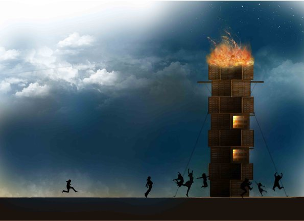 Tower of Babel at Burning Man